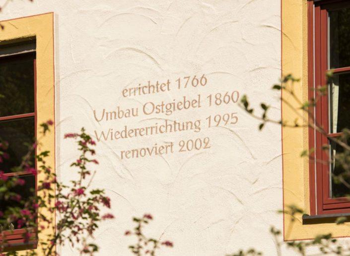 004 Fassadenanstrich Denkmalschutz Aschau